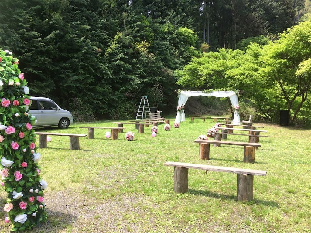 結婚式のできる岐阜県のキャンプ場